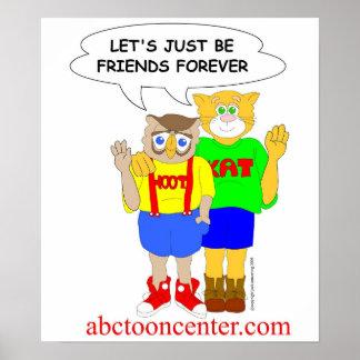 """Pitido y del Kat de los """"amigos poster para siempr"""