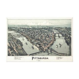 Pittsburgh, Pennsylvania, 1902 del cazador de aves Impresión En Lienzo