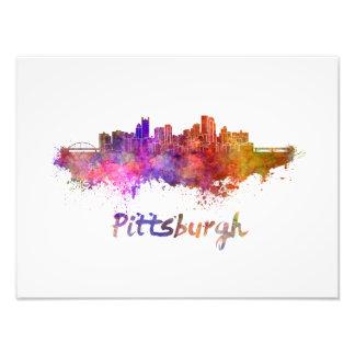 Pittsburgh skyline in watercolor foto