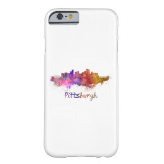 Pittsburgh skyline in watercolor funda barely there iPhone 6