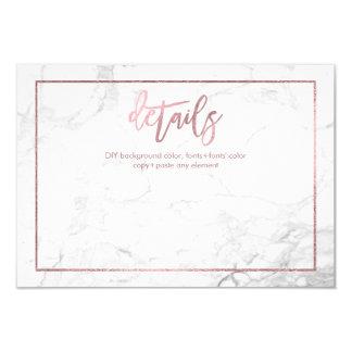 PixDezines DETALLA CARDS/MARBLE+FALSO ORO COLOR DE Invitación 8,9 X 12,7 Cm