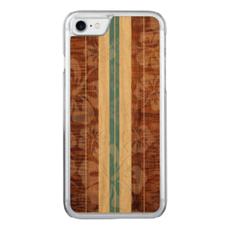PixDezines falso Koa/tabla hawaiana/hibisco Funda Para iPhone 7