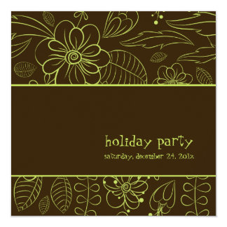 PixDezines floral+Helechos, color de Invitación 13,3 Cm X 13,3cm