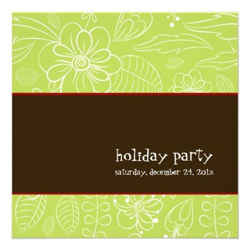 PixDezines floral+Helechos, fondo de DIY/verde de  Invitacion Personalizada