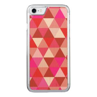 PixDezines geométrico/torta de frutas de la fresa Funda Para iPhone 8/7 De Carved