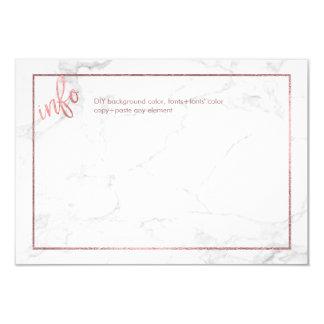 PixDezines Info CARDS/MARBLE+FALSO ORO COLOR DE Invitación 8,9 X 12,7 Cm