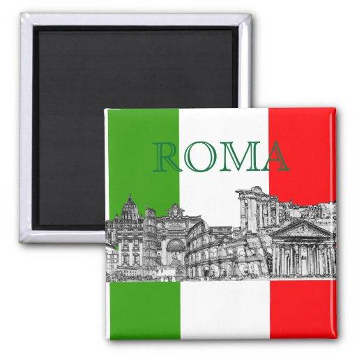 PixDezines regalos del recuerdo del viaje de Roma, Imán De Frigorífico