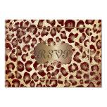 PixDezines RSVP, leopardo del vintage Invitaciones Personalizada