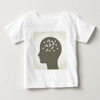 Pixel en una cabeza camiseta de bebé