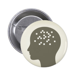 Pixel en una cabeza chapa redonda de 5 cm