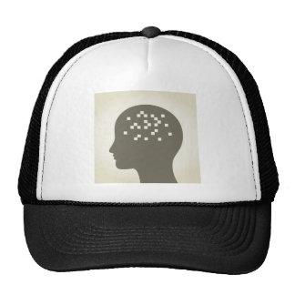 Pixel en una cabeza gorro