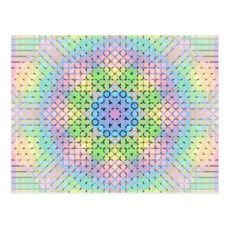 Pixeles en colores pastel tarjetas postales