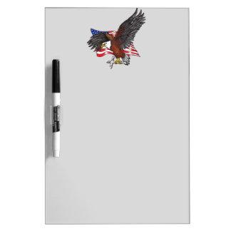 Pizarra Blanca American Eagle con la cruz