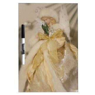 Pizarra Blanca Ángel de oro con las alas Outstretched