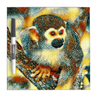 Pizarra Blanca AnimalArt_Monkey_20170601_by_JAMColors