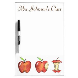 Pizarra Blanca Apple rojo personalizó el regalo del profesor de