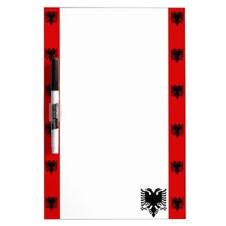 Pizarra Blanca Bandera albanesa de las rayas
