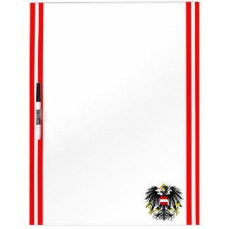 Pizarra Blanca Bandera austríaca de las rayas