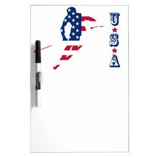 Pizarra Blanca Bandera de los E.E.U.U. del americano de esquí de