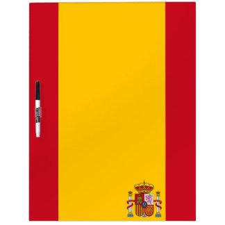 Pizarra Blanca Bandera española