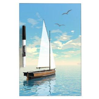Pizarra Blanca Barco de navegación - 3D rinden