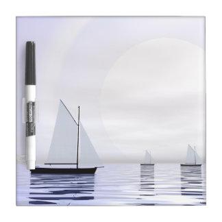 Pizarra Blanca Barcos de navegación - 3D rinden