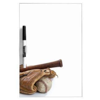 Pizarra Blanca Béisbol y palo del vintage