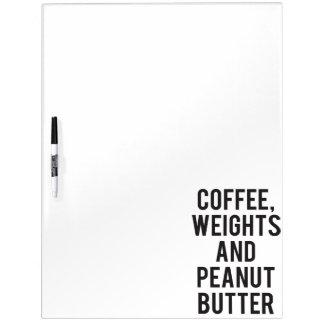 Pizarra Blanca Café, pesos y mantequilla de cacahuete - novedad