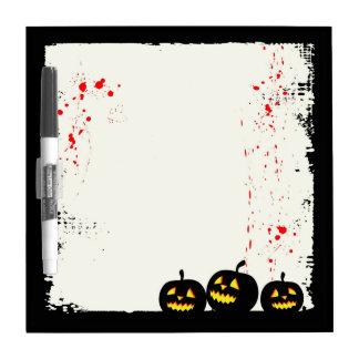 Pizarra Blanca Calabaza Halloween Whiteboard de la salpicadura de