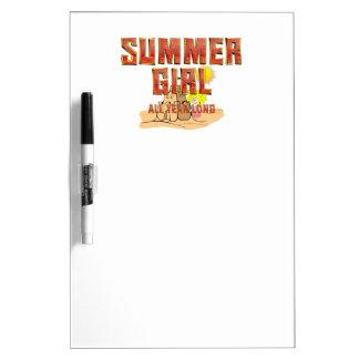 Pizarra Blanca Chica del verano de la CAMISETA