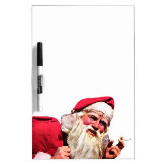 Pizarra Blanca Cigarrillo que fuma de Santa del vintage