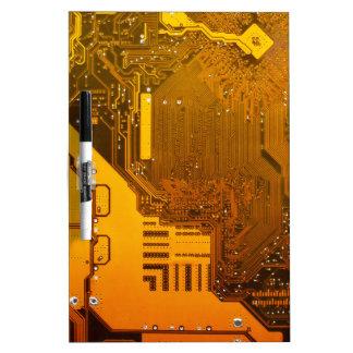 Pizarra Blanca circuito electrónico amarillo board.JPG