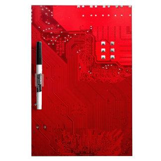 Pizarra Blanca circuito electrónico rojo board.JPG