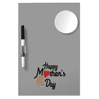 Pizarra Blanca Con Espejo Día de madres feliz Zg6w3
