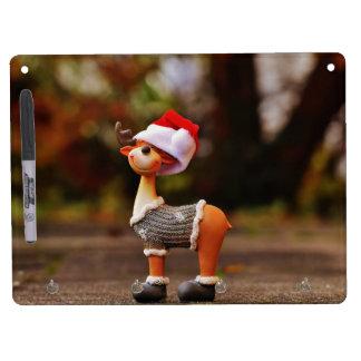 Pizarra Blanca Con Ganchos Para Llaves Decoraciones del reno - reno del navidad