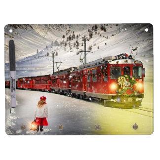 Pizarra Blanca Con Ganchos Para Llaves Tren expreso de santa del Polo Norte - el navidad