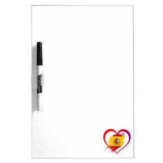 Pizarra Blanca Corazón español