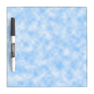 Pizarra Blanca Diseño azul y blanco creado de las nubes