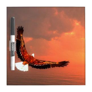 Pizarra Blanca Eagle que vuela - 3D rinden