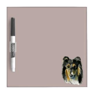 Pizarra Blanca Ejemplo de la acuarela del perro del collie