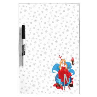 Pizarra Blanca Ejemplo gris rojo elegante del navidad de la moda