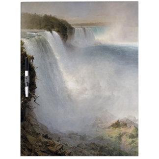 Pizarra Blanca El río los E.E.U.U. de la cascada de Niagara Falls