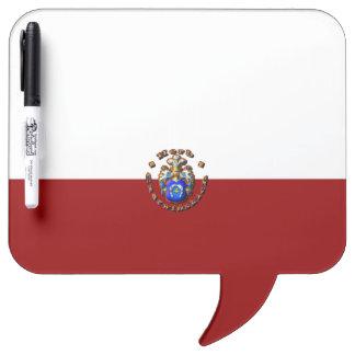 Pizarra Blanca escudo de la familia de 3D Czerwińskch