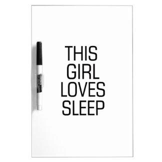Pizarra Blanca Este chica ama sueño