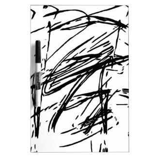 Pizarra Blanca Extracto blanco y negro