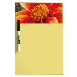 Pizarra Blanca Flor anaranjada, estilo de DeepDream