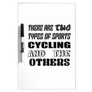Pizarra Blanca Hay dos tipos de ciclo y de otros de los deportes