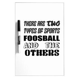 Pizarra Blanca Hay dos tipos de deportes Foosball y otros