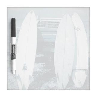 Pizarra Blanca La resaca 3 tablas hawaianas tiembla la tabla
