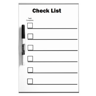 Pizarra Blanca Lista de verificación